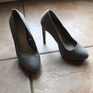 Forever 21 Light Grey High Heels